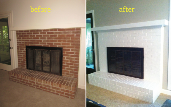 Fireplace-before-&-after-paint