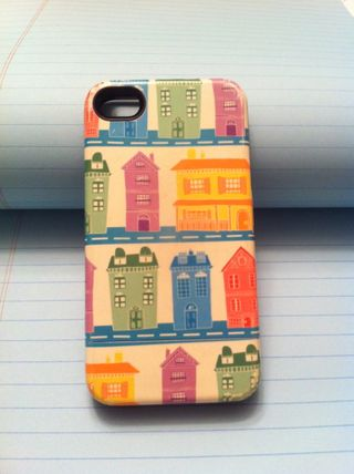 iPhone case with houses